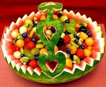 Кавринг для начинающих: корзина для фруктов из арбуза