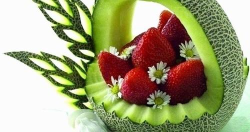 Карвинг из овощей и фруктов пошаговое фото