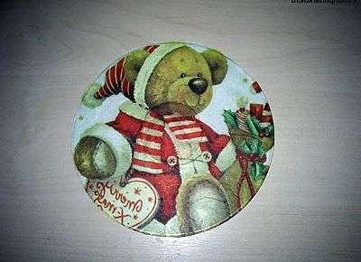 Новогодний магнит на холодильниксвоими руками из диска
