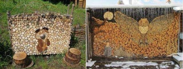 оригинальная укладка дров