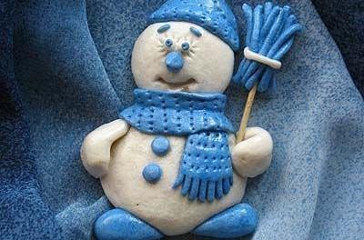 Снеговик своими руками из теста соленого