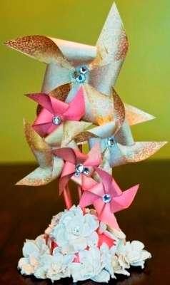 """Самостоятельно делаем декор для торта на свадьбу под названием """"Вертушка""""."""