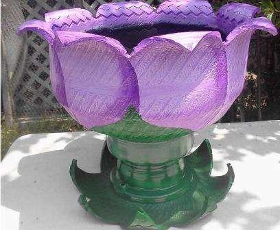 оригинальный окрас вазона дачного