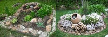 Использовать камни можно различной величины они могут придать клумбе индивидуальность, если самые крупные камни расположить внутри, то получиться что-то вроде рокария.