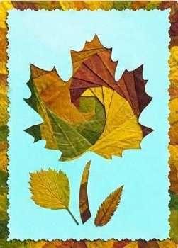 Чтобы аппликация смотрелась оригинально, края бумаги можете обрезать фигурными ножницами.</p> <p> Поделка будет смотреться как настоящая картина, если сделать рамку из картона или бумаги. Теперь наклеивайте листья и дождитесь полного высыхания картины. » width=»251″ height=»350″/></p></div> </p> <p>Теперь вы сами убедились, насколько красивыми и оригинальными могут быть <strong>аппликации из осенних листьев</strong>, сделанные своими руками.</p> <p> Используйте наши идеи для проведения досуга всей семьёй.</p> </div> <div class=