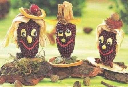 Кукуруза также подходит в качестве материала для декора