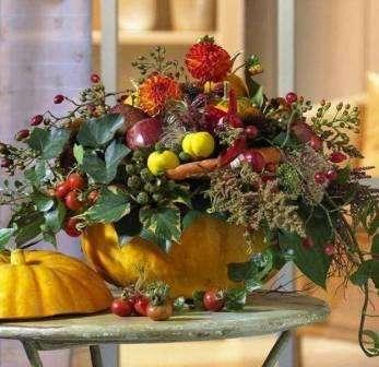 Тыквенно - ягодный декор