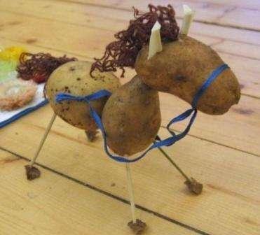 картофель - как вариант поделок