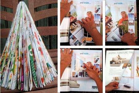 Елочка из журналов своими руками