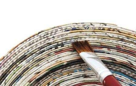 Колер для газетных трубочек, виды, способы окраски