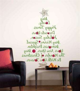 елка из надписей