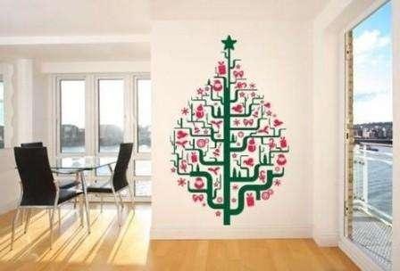 елка - наклейка на стену