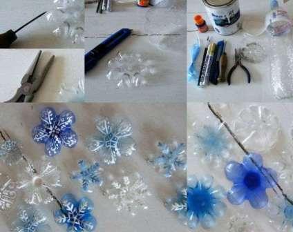 Новогодние игрушки из пластиковых бутылок, делаем своими руками