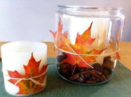 поделки из листьев на тему осень