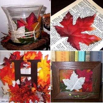 Декорируем помещение кленовыми листьями