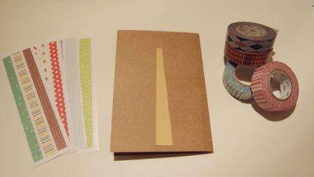 Приступим к изготовлению простой открыточки