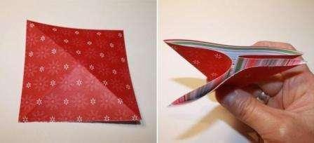 Так, теперь надо сложить примерно три модуля оригами. В зависимости от исходного размера можно делать больше или меньше модулей