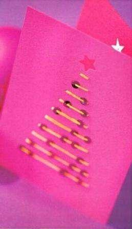 Новогодняя открытка в стиле «минимализм»