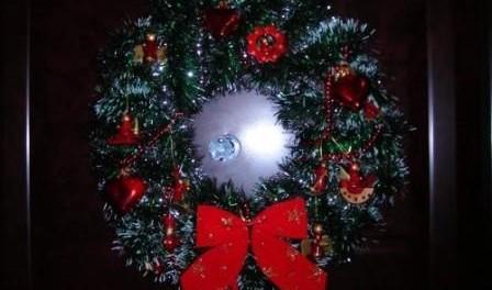 Венки на Новый год своими руками, Венок на двери, фото