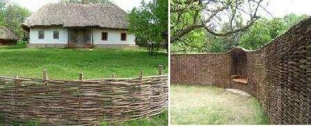 деревянный забор плетень своими руками