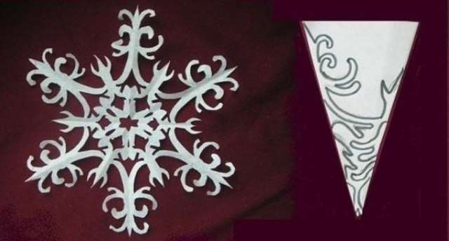 Снежинка своими руками из бумаги