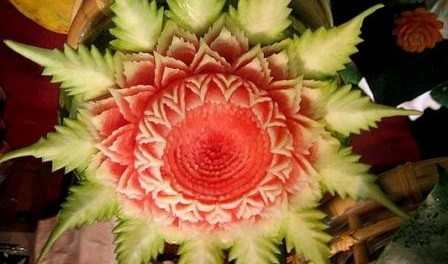 Поделки из фруктов или карвинг для начинающих. Фото