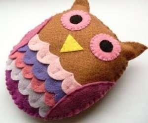 сова из фетра может стать не только подушкой но и мягкой игрушкой