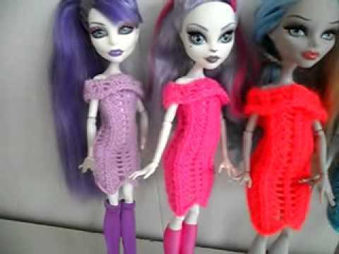 Как сделать для куклы монстер хай платье из носка