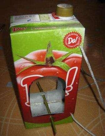 используем упаковку от сока