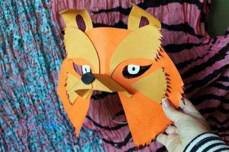 Как делать маски из бумаги и фетра. Видео и фото