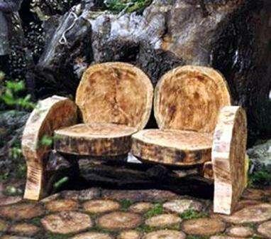 Садовая мебель своими руками из бревен