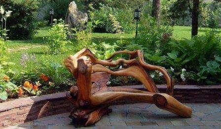 Мебель для дачи своими руками из… пней!