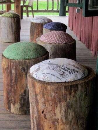 Пеньковые табуретки своими руками с мозаикой