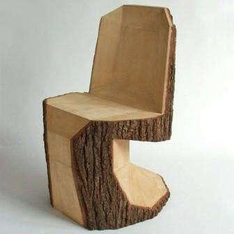 Стулья и кресла из пней своими руками