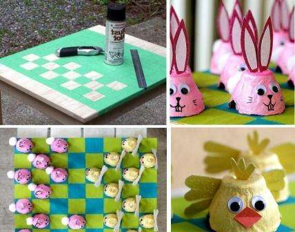 Еще один способ сделать шахматную доску – обклеить какую-то твёрдую поверхность самоклейкой, а потом расчертите её и вырежьте квадраты.