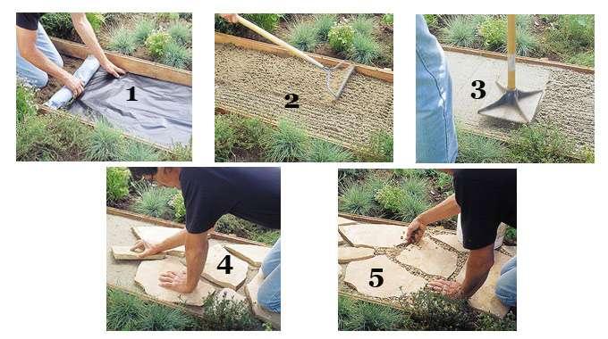 Как сделать дорожку на даче своими из  722