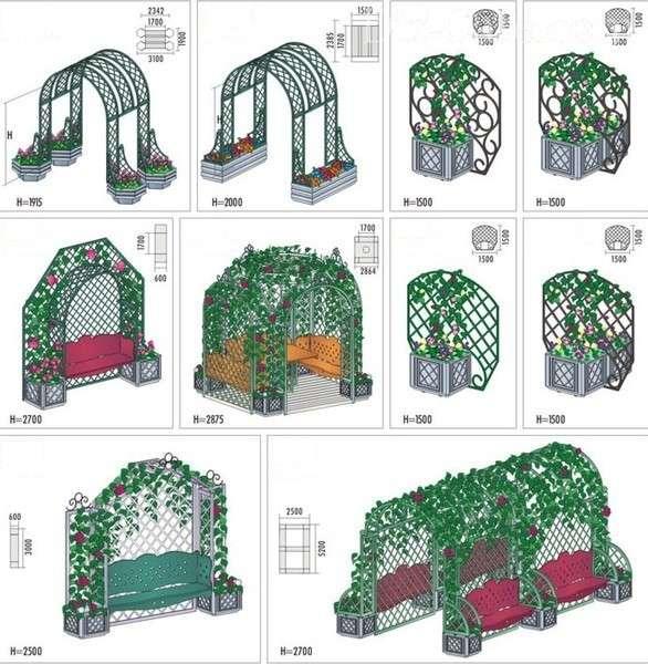 конструкции садовых арок