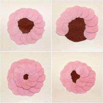 Цветы из фетра своими руками с пошаговым фото