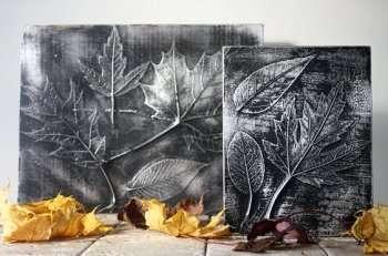 Панно из осенних листьев. Поделки из природного материала