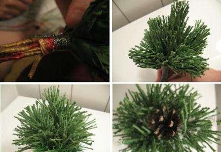 Делаем сосну или елку из фоамирана