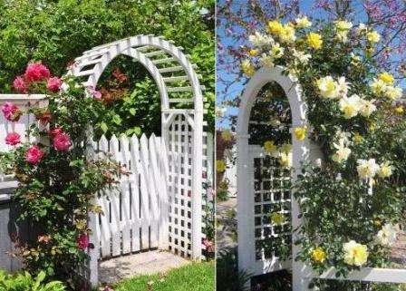 как сделать садовые арки
