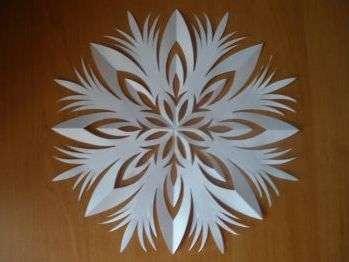 красивая снежинка из бумаги шаблон