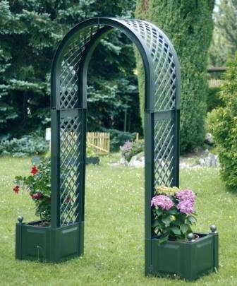 простая садовая арка