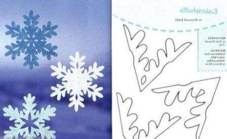 такую снежинку смогут вырезать даже дети