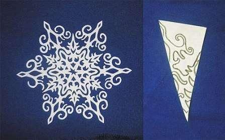 Как вырезать снежинки 3д из бумаги своими руками поэтапно