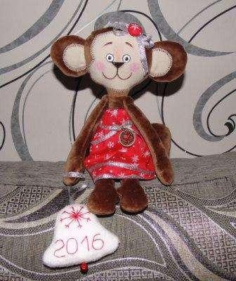 Мягкая игрушка обезьянка. Выкройки, мастер-класс, фото