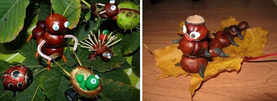 Каштан отлично подойдет для изготовления фигурок животных, которые можно использовать для декора домашнего интерьера.