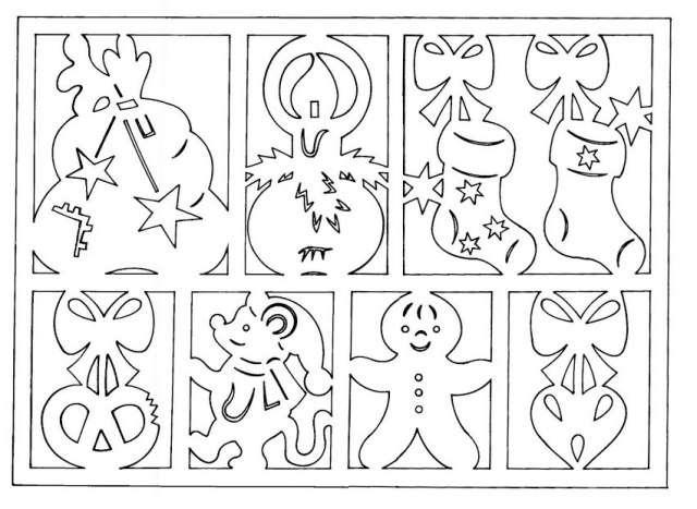 новогодние гирлянды из бумаги своими руками шаблоны