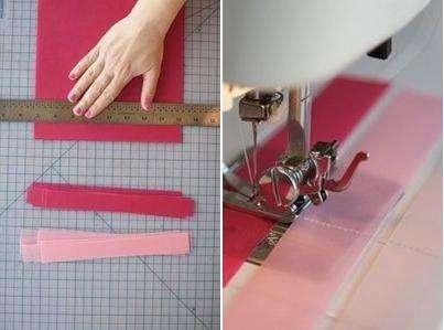 Воспользуйтесь линейкой и разметьте на листах цветной бумаги одинаковой ширины полоски, где-то около 1-1,5 см