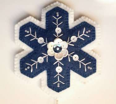 Снежинки из фетра. Мастер-класс, фото, выкройки